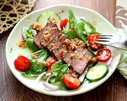 Spicy Basil Beef Salad | Recipe | Beef Salad, Basil and Spicy