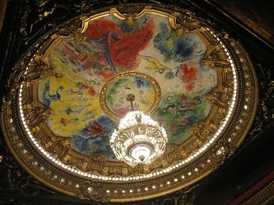 Palais Garnier - Opera National de Paris: techo del auditorio pintado por Marc Chagall:
