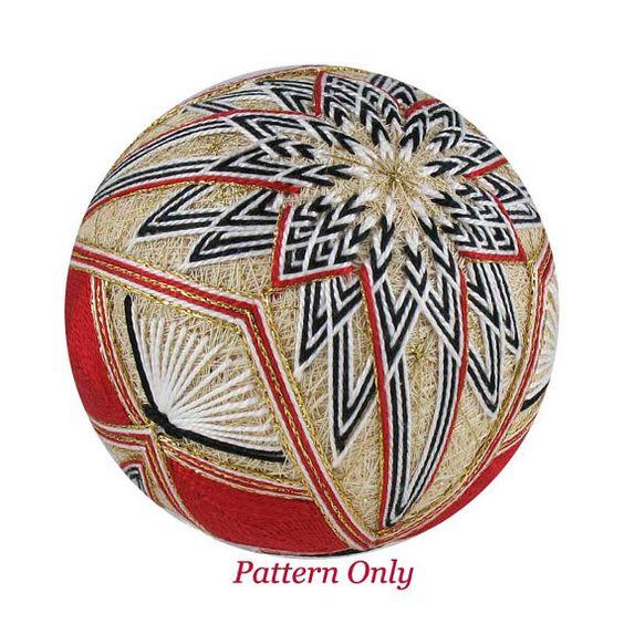 Temari pattern for sale Unfolding Kiku Temari by JapaneseTemari, $8.99