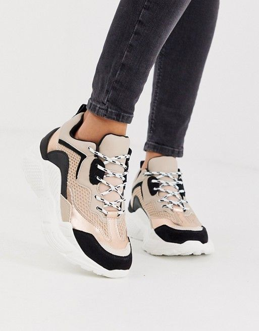 Steve Madden Antonia chunky trainers in rose mix | Steve
