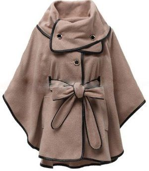 """Fashion Vintage Casual Trench Coat Cape Cloak Jacket Small ( Size 0 - 6) by NovoAndina. $201.00. 100% wool blends and leather trim. Highly fashionable. Beautiful coat - cape. The new """"it"""" silhouette in outerwear. Double-breasted Button-front with belted waist Fully lined A perfect wool mix of cashmere, alpaca and merino, offer a soft and elegant combination for those cold nights.. Save 43%!"""