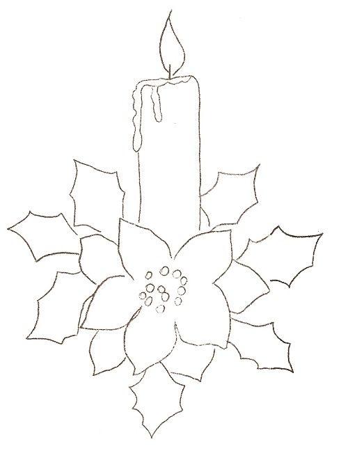 Pintura em Tecido, Como fazer, Passo a passo, Riscos e muitas dicas.: Pintura em Tecido riscos para o Natal