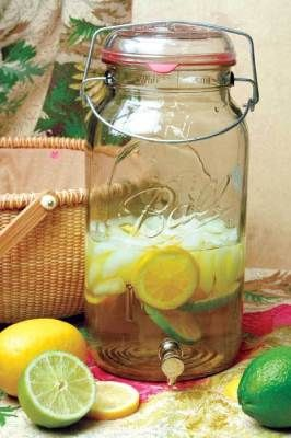 Mason Jar drink dispenser, holds one gallon, $25 Victorian Trading Co.
