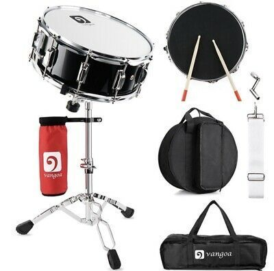 Snare Drum Set With Sticks Keys Bag Drum Mute Pad And Stand In 2020 Drums Drum And Bass Snare Drum