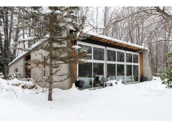 60's concrete vermont vacation home
