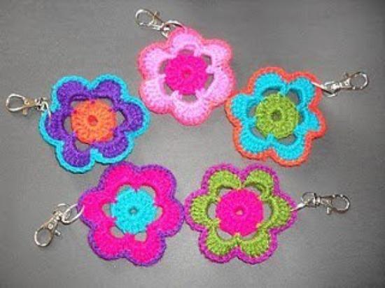 Patrones de llaveros a crochet gratis