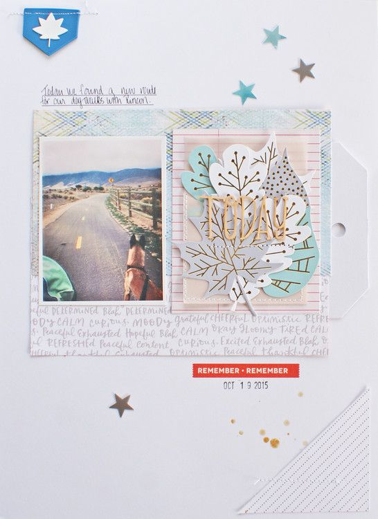 #papercrafting #scrapbook #layouts: Today by MichelleWedertz at @studio_calico