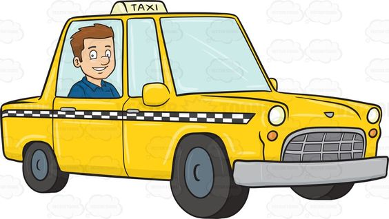 A Satisfied Guy Rides A Yellow Cab On His Way To The Hotel Yellow Cabs Yellow Taxi Cab