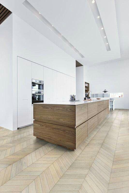 Ideale keuken, alleen in plaats van een witte meubel een donkere ...