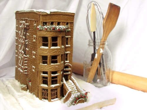How-To: Gingerbread Brownstone from Instructables user, kitchentablescraps