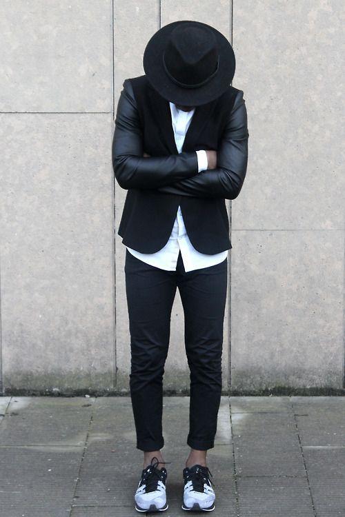 // black + white