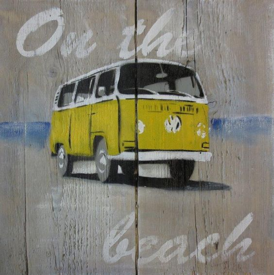VW bus steigerhout Artworxs