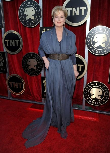 Meryl Streep walked the red carpet at the Screen Actors Guild awards dressed in Vivienne Westwood Couture
