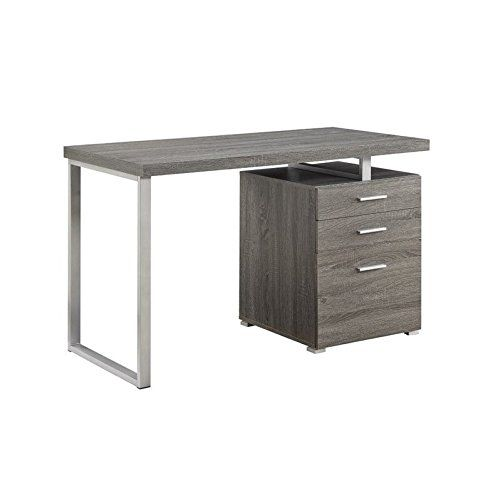 Office Desk Finished In Weathered Grey Frame Hardware Finished In Silvercrafted From With Images Home Office Furniture Design Buy Office Furniture Grey Desk