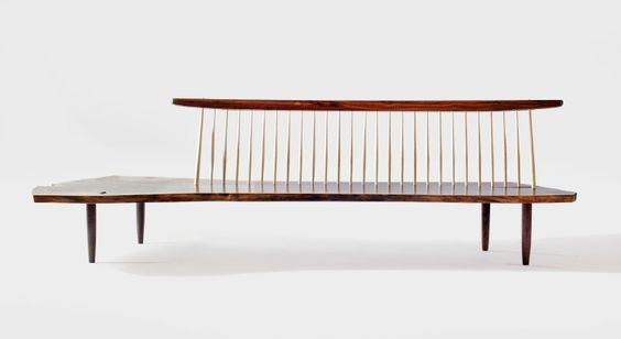 Furniture Conoid Bench 1 First made in 1960, each of these benches is designed individually to the boards selected.