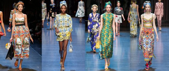 D&G Dolce Gabanna s/s16 show lineup prints launchmywear.com