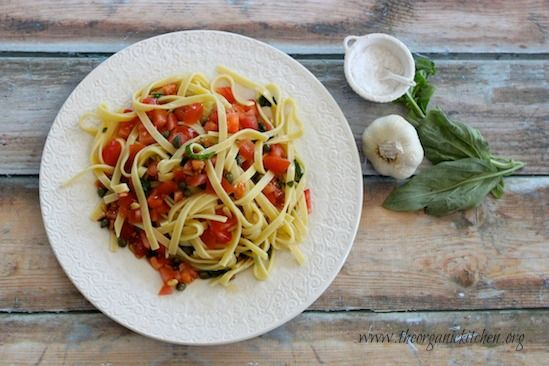 Grain Free Pasta with Tomatoes and Lemon