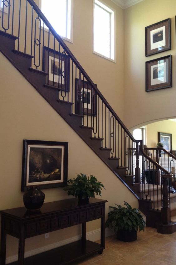 Best Dark Wood Stair Rails For The Home Pinterest Stairs 400 x 300