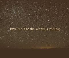 world is ending..