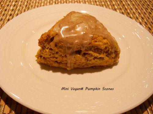 Vegan Pumpkin Scone Fall treat.