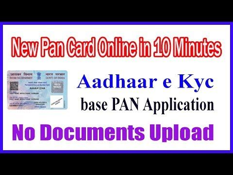 Apply New Pancard Online Aadhar Ekyc System Application New Pan