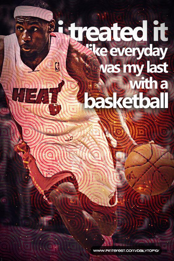 basketball quote | Lebron James has his own inspiring words as well.  #LebronJames #MiamiHeat #NBA #basketballquotes