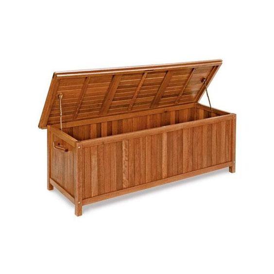 Baule cassapanca ilex in keruing 65x173x60 per cuscini for Cassapanca in legno da esterno