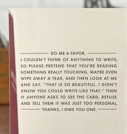 I am going to give someone a card like this one day.. And they will love it. :)