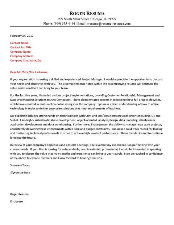 Cover Letter Examples Programmer  Samples Of Cover Letters For Resumes