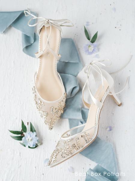 Frances Low Heel Crystal Gold Wedding Shoe Gold Wedding Shoes