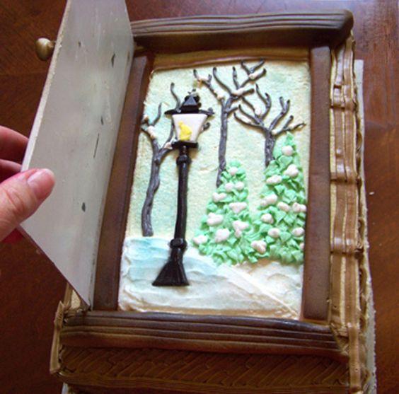 "Narnia Cake with ""the door open"""
