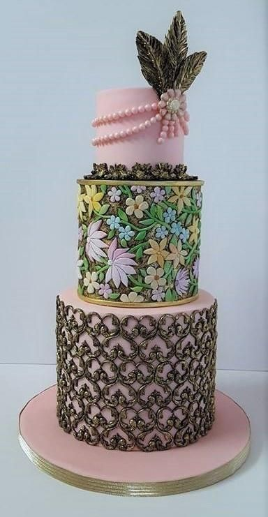 Pink and black cake by Nadia Old Hollywood Wedding Cake   CakeCentral com. Old Hollywood Wedding Cakes. Home Design Ideas