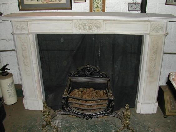 Ancient Antique Fireplace to Bring Back Your Old Memories: Magnificent Antique Fireplaces White Color Artistic Design Ideas ~ nabilags.com Fireplace Inspiration
