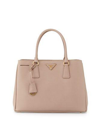 prada saffiano lux tote small - Prada Saffiano Small Gardener's Tote Bag, Blush (Cammeo), Women's ...