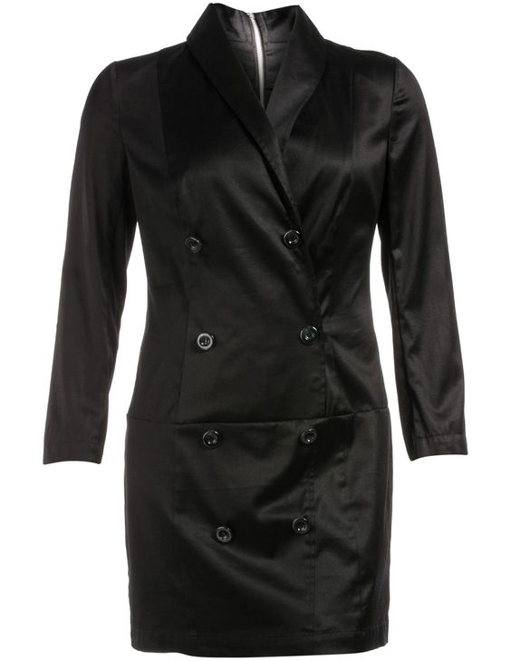 Cotton trench coat style dress in Black designed by Manon Baptiste to find in Category Dresses at navabi.de