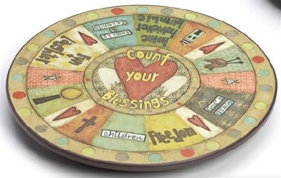 "Count Your Blessings lazy susan from ""This Thing Called Family"" $65.00"