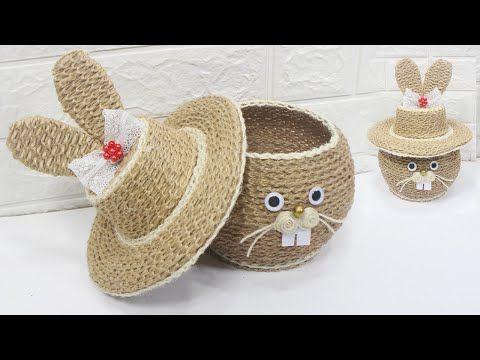 5 Jute Craft Ideas Home Decorating Ideas Handmade 7 Youtube Jute Crafts Rope Crafts Handmade Crafts