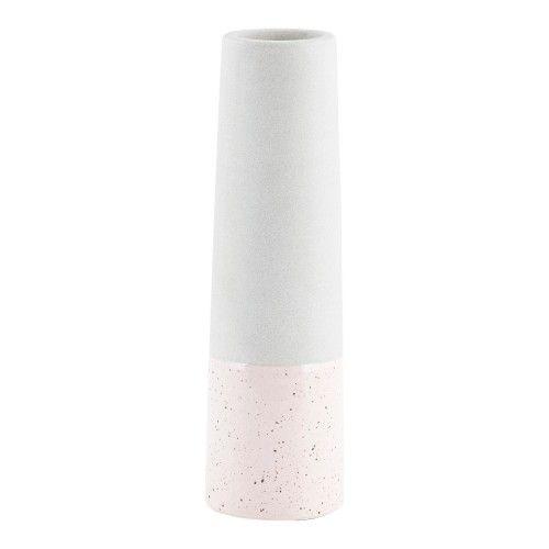Vase tube beton rose