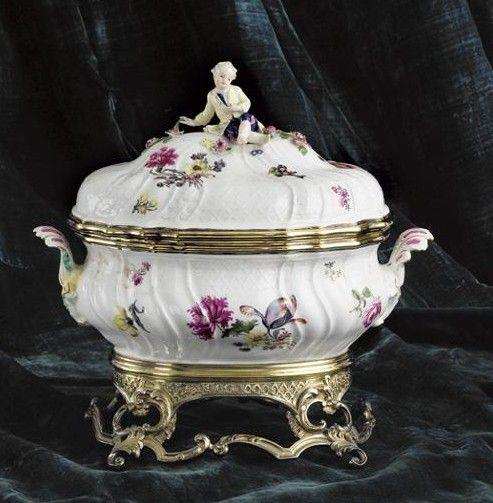 ** Porcelán ♣ Míšeň - servírovací mísa r.1750 **
