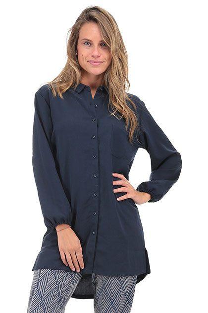 American Vintage - Camicie - Abbigliamento - Camicia lunga con bottoni e…