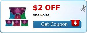 New Coupon!  $2.00 off one Poise - http://www.stacyssavings.com/new-coupon-2-00-off-one-poise-8/