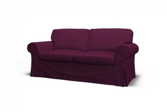 Ikea Ektorp Two Seat Sofa Slipcover Gaja Pansy Purple 100 Pure New Wool From New Zealand