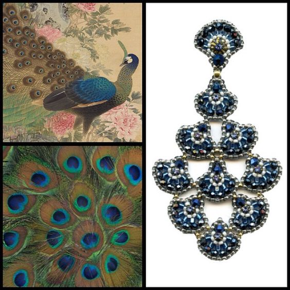 Miguel Ases peacock earrings: