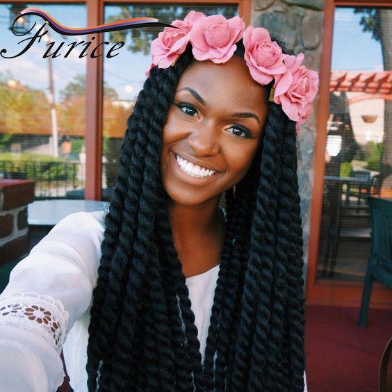 12 14 16 18 22 24 Inch Crochet Hair Havana Twist Crochet Braids  Extension Havana Mambo Twist Beauty Hair Havana Twist For Women