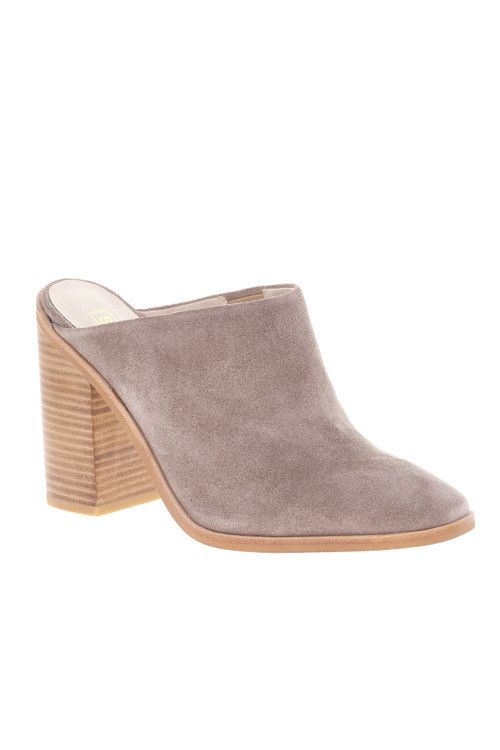 Sol Sana Frost Mule is our new favorite go to shoe. Featuring a beautiful taupe suede upper and leather inner, wooden heal, and square toe, this beauty goes from day to night with ease. Pair it with d