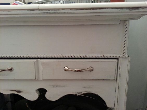 Console table turned vanity. Added the extra 2x4 to make ...