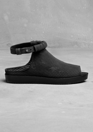Leather sandals   Black   & Other Stories