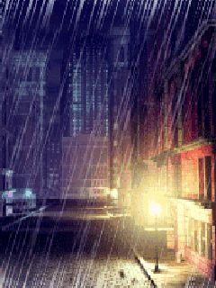 (Animated gifs : Animated wallpapers for cellphones) a rainy night