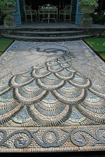 Peacock mosaic...if only I had somebody willing to put this in for me!: