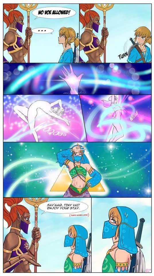 Botw Pretty Guardian Sailor Link Original Art Visit Blazezelda